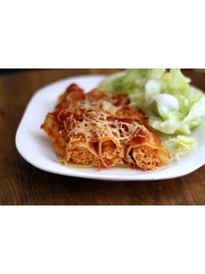 Cannellonis au poulet et légumes du sud
