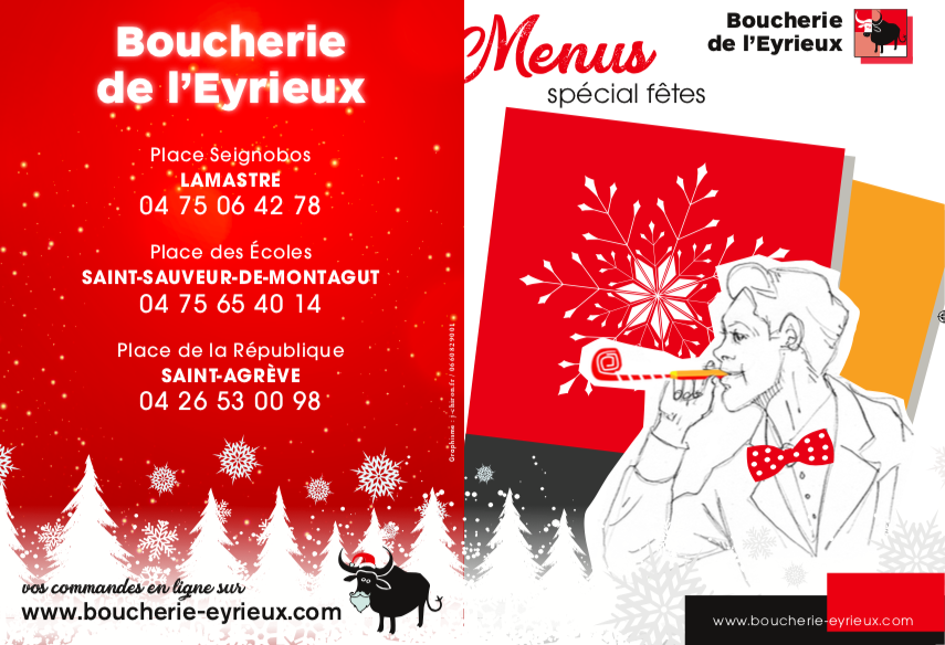 Retrouvez nos menus traiteur pour les fêtes de fin d'année