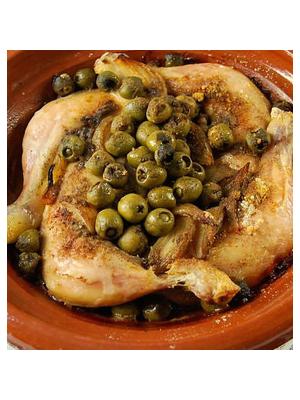 Cuisse de poulet aux olives