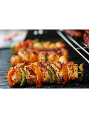 Brochette de porc et poivron au barbecue